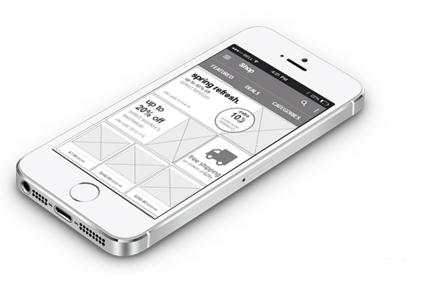 how to find an offline iphone iplotz wireframing mockups and prototyping for websites 8386
